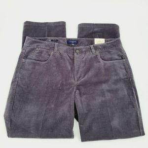 Talbots Heritage Straight Corduroy Pants Gray 16W